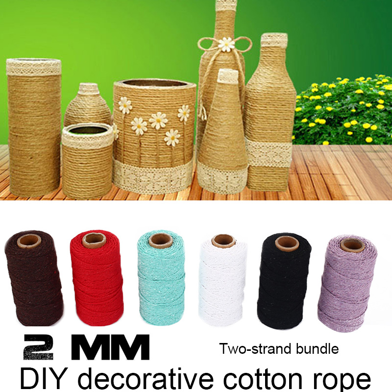 SOLEDI макраме Artisan текстильная лента витой шнур веревка 100 Двор привлекательный веревка Свадебная вечеринка хлопок плетеный шнур подарок обёрточная бумага