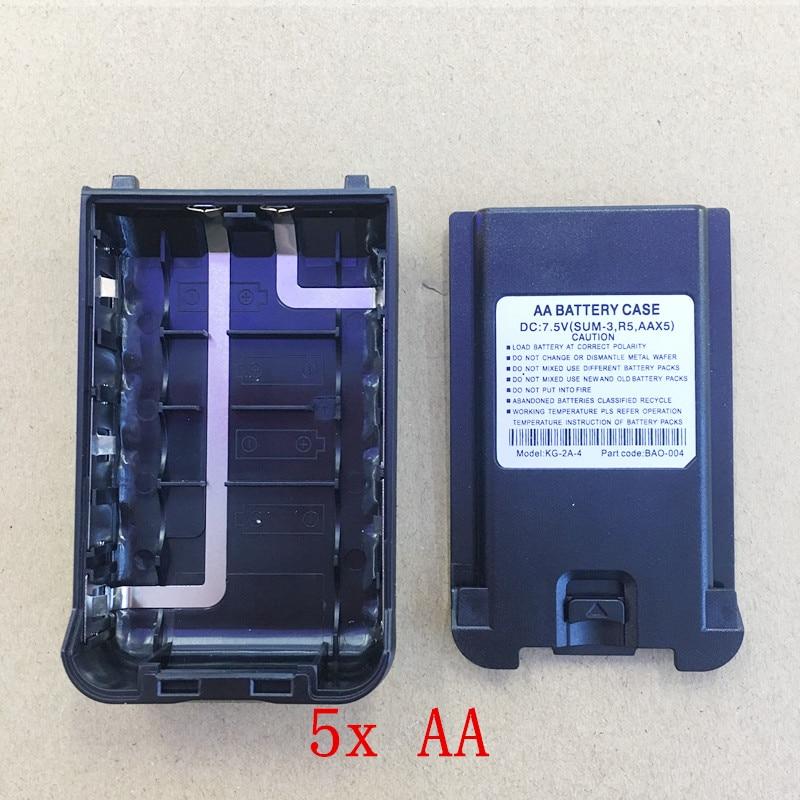 Honghuismart Batterie Cas boîte 5xAA pour Wouxun KG-UV8D talkie walkie radio bidirectionnelle