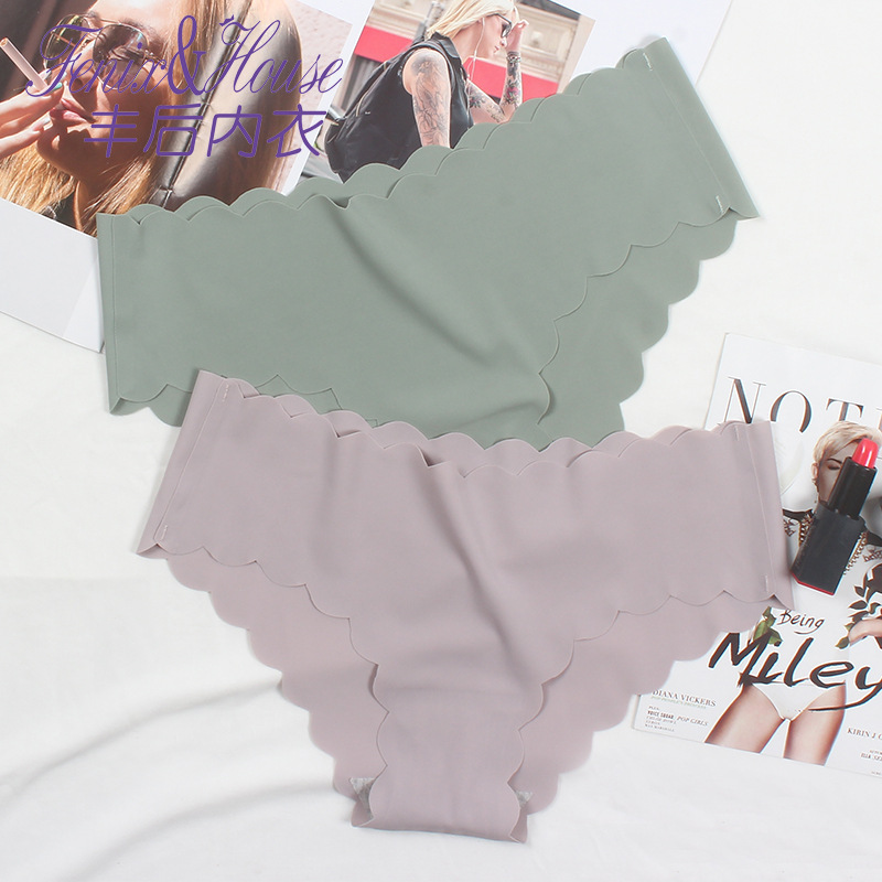 Seedrulia High Quality Ice Silk Seamless Sexy Breathable Sexy Pure Color Low-rise Panties Women Underwear Briefs