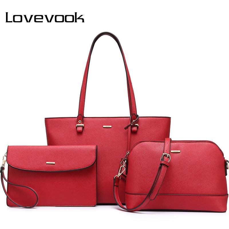 LOVEVOOK purses and handbags women shoulder messenger bag female clutch  luxury handbags women crossbody bags designer 3 pcs 2018 – Dream Apparels 87fde87967