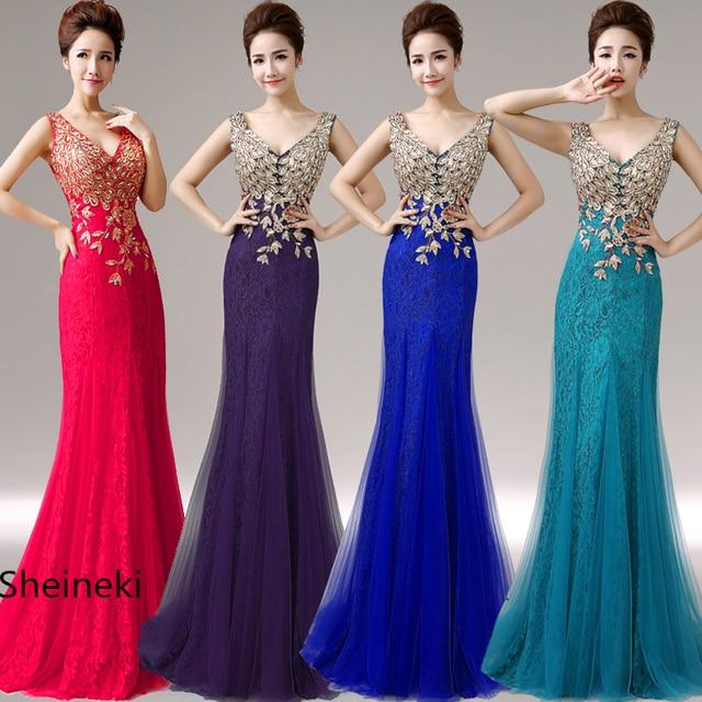 be839726db in stock long lace tulle peacock pattern beads mermaid bridesmaid dresses  wedding party dress plus size vestido de festa longo