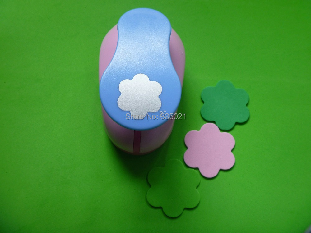 free shipping 2(5.0cm) flower EVA foam punch craft punch DIY punch greeting card handmade puncher Scrapbook Handmade puncher