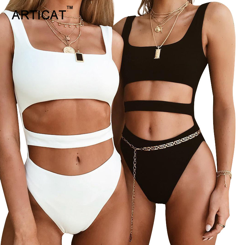 Articat Summer Hollow Out Skinny Bodysuit Women Solid Sleeveless Rompers Womens   Jumpsuit   Overalls Sexy Beach Club Wear Playsuit