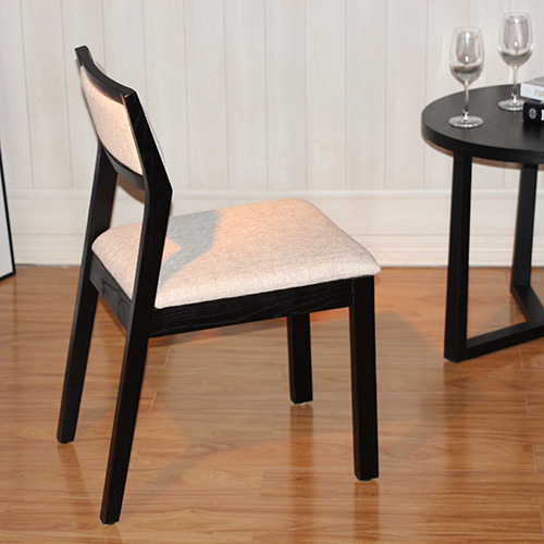 Ash Wood Upscale All Linen Dining Chair Man Chi Chi's