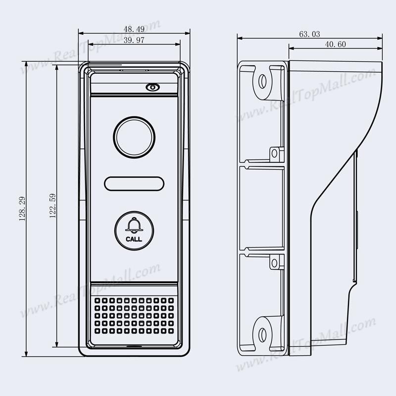 Купить с кэшбэком 800TVL  Video Door Phone IR Camera Doorbell Waterproof Metal IP65 High Resolution Day/Night Vision