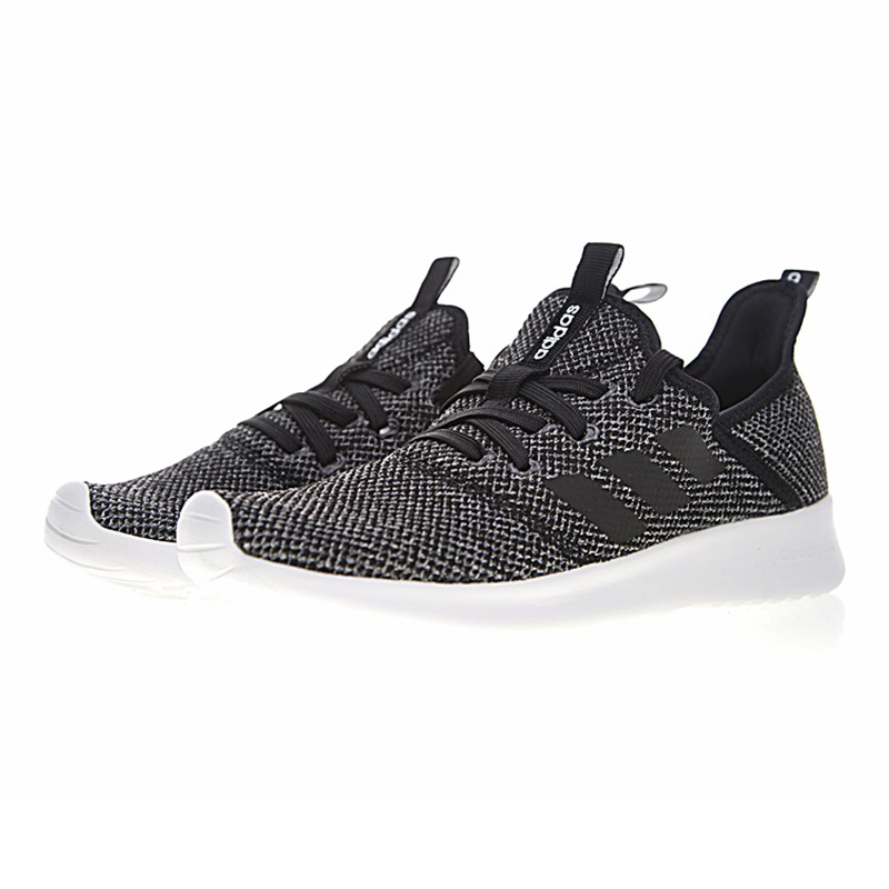 the latest 5ed7b c05bf ... sweden adidas neo cloudfoam pure mens and womens running shoes grey  black shock absorbing breathable lightweight