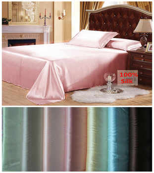 Free shipping 100% Mulberry Silk Flat Sheet Customizable Sheets Top Quality Multicolor&Multi Size For Choose - DISCOUNT ITEM  15% OFF All Category