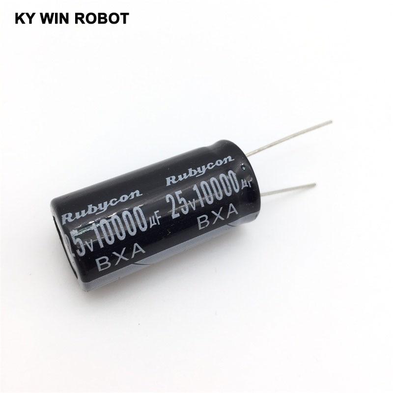 Aluminum Electrolytic Capacitor 25V / 10000 UF 25V/10000UF Electrolytic Capacitor Size 18*35 Mm Plug-in 25V 10000UF