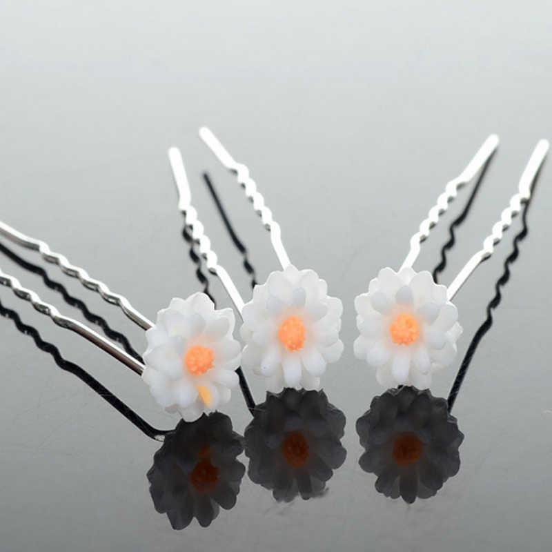 20 Pcs/pcck Hair Accessories Wedding Hair Jewelry Drop Ship Bride Headdress U Type Hairpins Flower Pearl Crystal Bowknot Hairpin