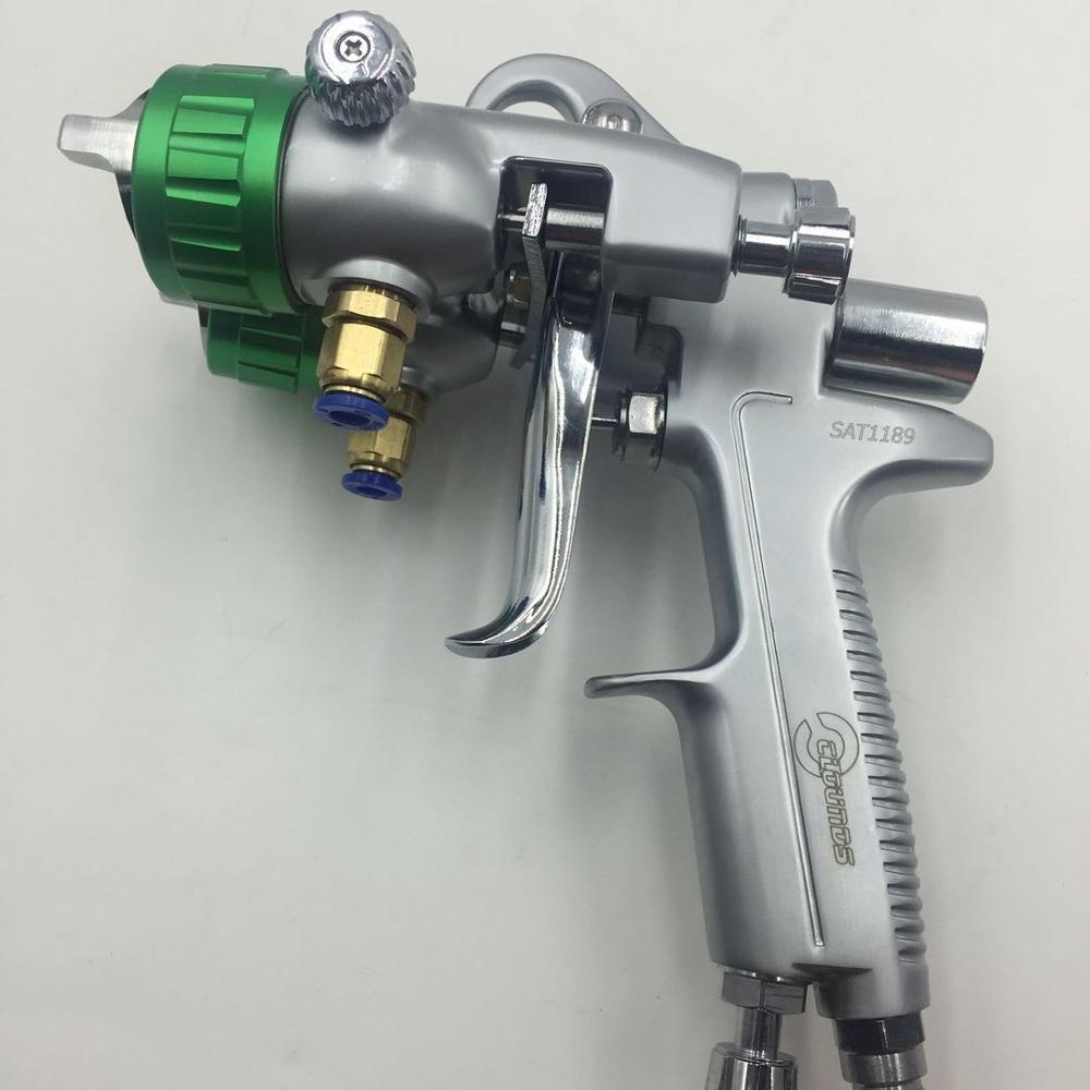SAT1189 nano kroomvärvi pihustuspüstol kõrgsurve topeltdüüsiga - Elektrilised tööriistad - Foto 5