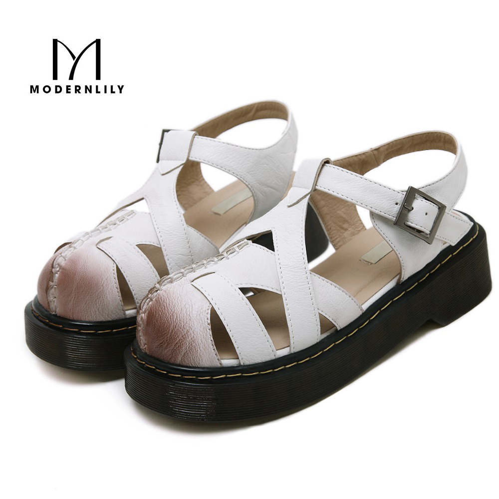 Shoes n sandals online - Summer Woman Ladies Shoes Gladiator Sandals Women Solid Flat Platform Sandals Pesca Sandalias Plataforma Closed Toed