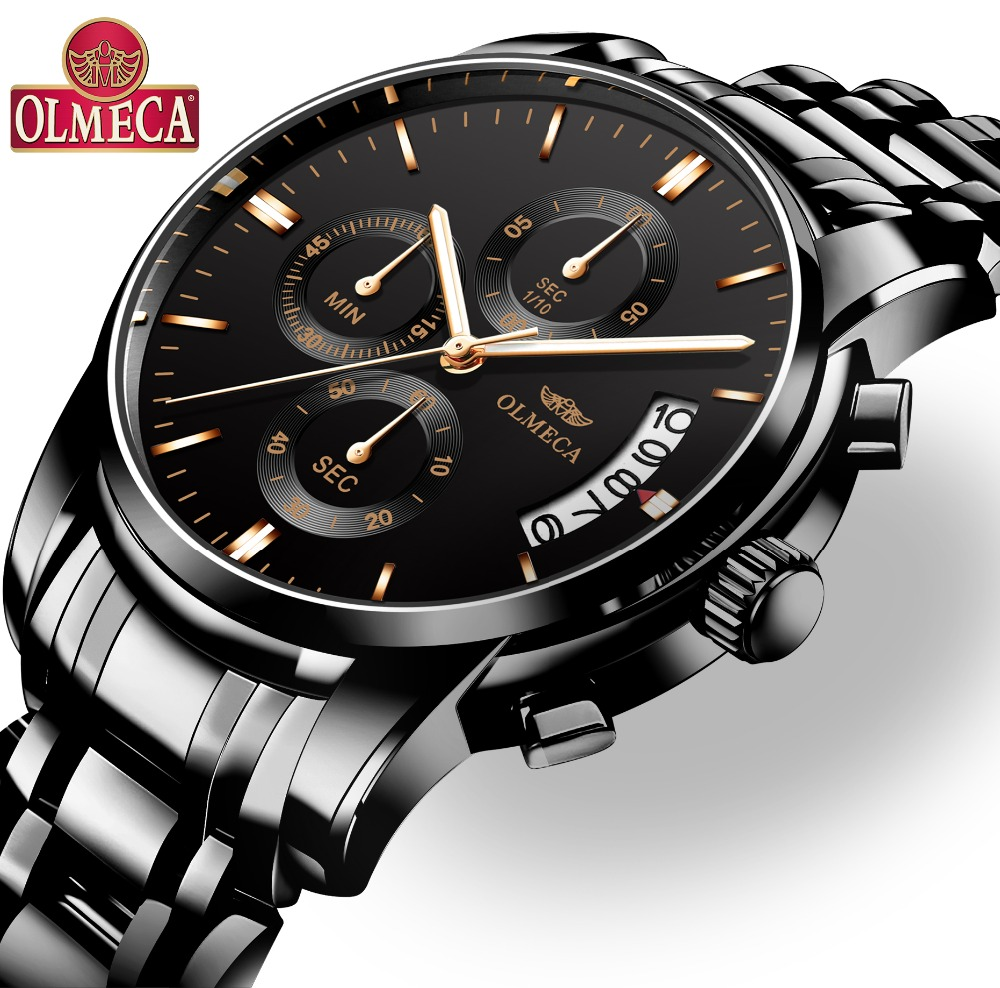 ebcdb3675cf OLMECA Homens Assistir Top Marca de Luxo Relogio masculino Relógios À Prova  D  Água Moda