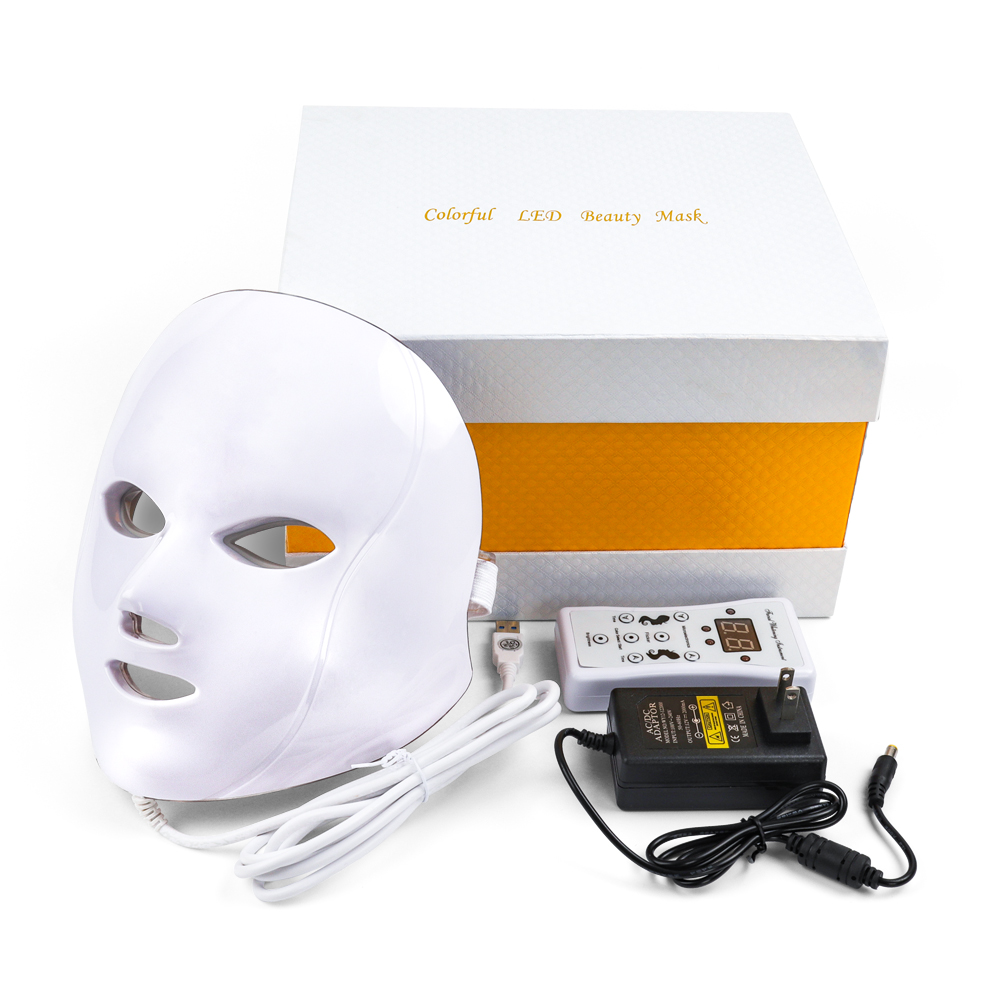 7 Colors Led Face Mask Skin Rejuvenation Wrinkle Acne Removal LED Facial Photon Mask Beauty Therapy Whitening Tighten Beauty Spa