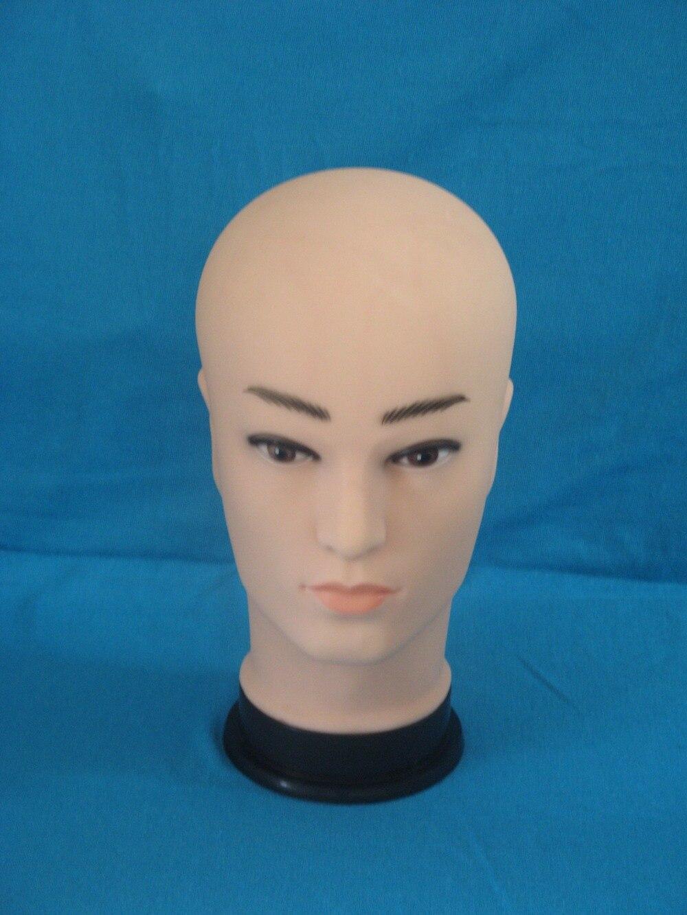 Realistic Plastic Male Mannequin Dummy Head, Manikin Heads For Hat