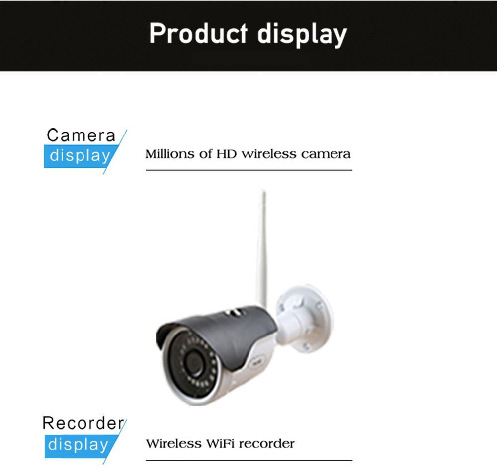 N_eye Professional Wireless CCTV Camera Kit HD 1080P Home Outdoor Video Surveillance Camera Kit 8 Home NVR Camera System