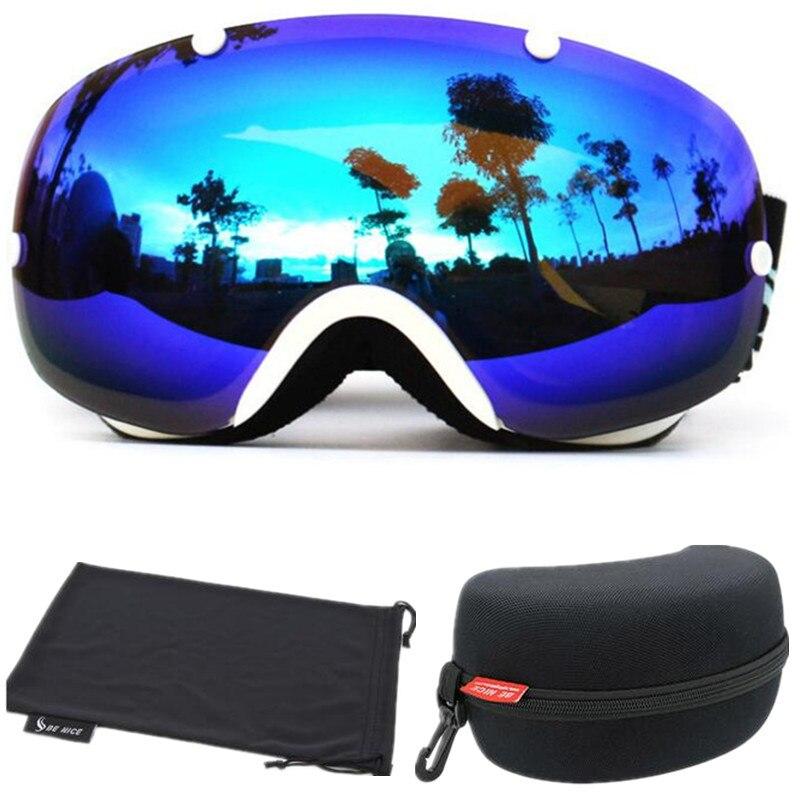 SER AGRADABLE Genuina Marca profesional Snowboard gafas de Esquí Doble Capa Gran