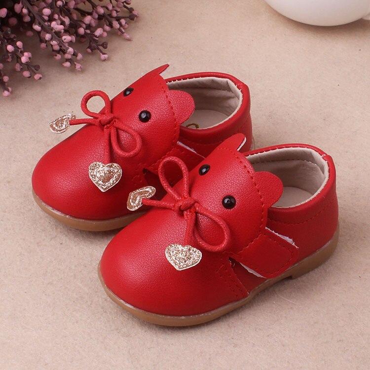 Lederschuhe Einlegesohle 11,5-15,5 Cm Neue Kind Baby Einzelnen Schuhe Kleine Mädchen Pu Weichen Boden Schuhe
