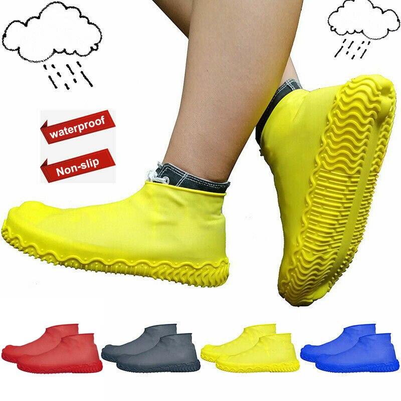 1 Pair Reusable Latex Shoe Covers Anti-slip Waterproof Rain Boot Overshoes YS-BUY