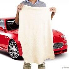 50*70cm natural shammy chamois couro toalhas de limpeza de carro pano de lavagem de secagem