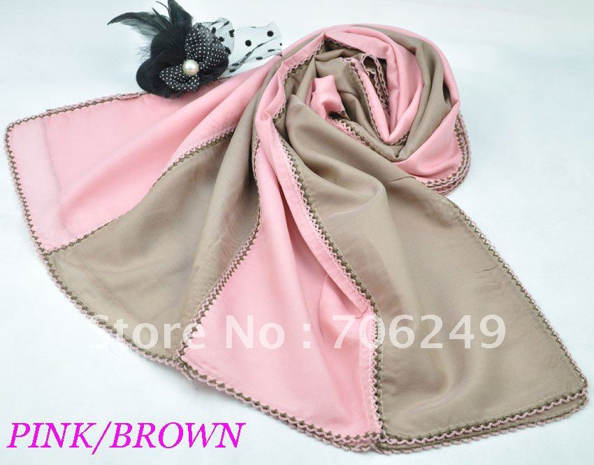 ,patchwork scarf,ladies shawl,muslim hijab,50% silk+50% cotton,2012 new design,50*180cm - ELLEN FASHION ACCESSORIES store