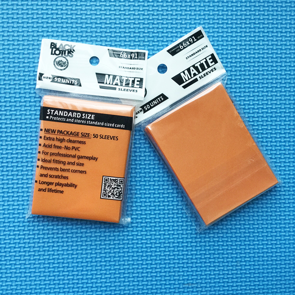 100 PCS/LOT Orange Color Matte Sleeves Cards MGT Protector For TCG Trading Cards Board Game Cards Shield Sleeves 66x91mm