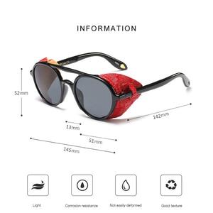 Image 3 - KEITHION מותג עיצוב Steampunk עגול משקפי שמש אופנה נשים גברים משקפיים שמש רטרו Goggle UV400 גווני Eyewear 9757