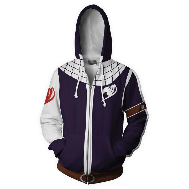 2018 Autumn Winter 3D Print FAIRY TAIL Costumes Etherious Sweatshirts Hoodies Fashion Cosplay Zipper hooded Jacket clothing