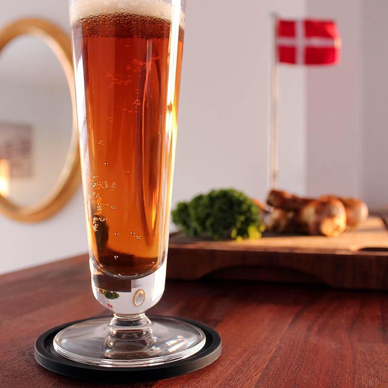 TEENRA 8 Stks Zwart Siliconen Drink Coaster Placemats Voor Placats - Keuken, eetkamer en bar - Foto 5