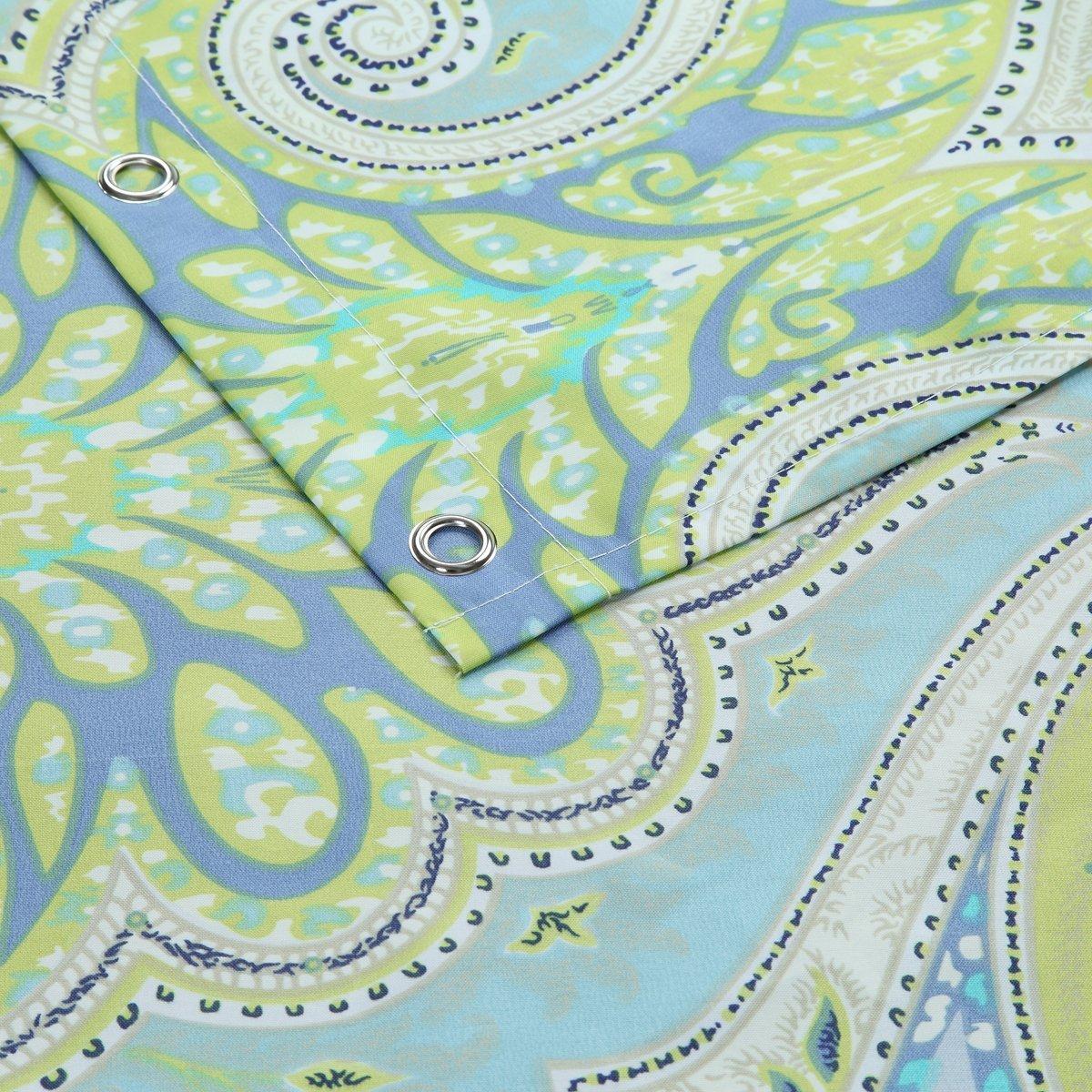 WINLIFE животные белый водонепроницаемый занавеска для душа полиэстер утолщаются машинная стирка для ванной занавеска 180cmW * 200cmH - 3