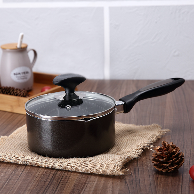Non stick cookware 16cm Small capacity light portable Uniform thermal conductivity frying pan ceramic induction