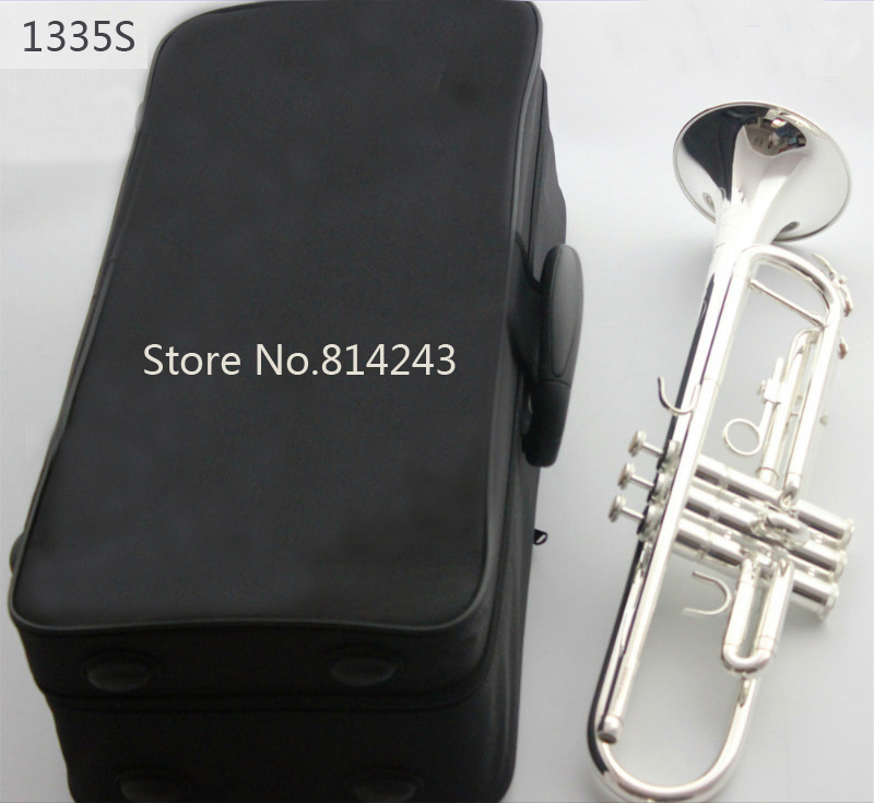 Bach Professional Trumpet Stainless Steel Type Small Trompeta Brass Instruments Silver Plated Surface Bb Trumpete