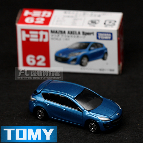 2017 Toy Car Metal Model Dume Tomy Boxed Card 62 Mazda 3 Sport Alloy Models