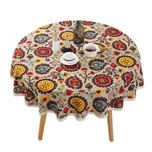 New Arrival 150*150cm Lace Tablecloth Bohemian Table Cloth Round Cover National Cotton Hotel Dining