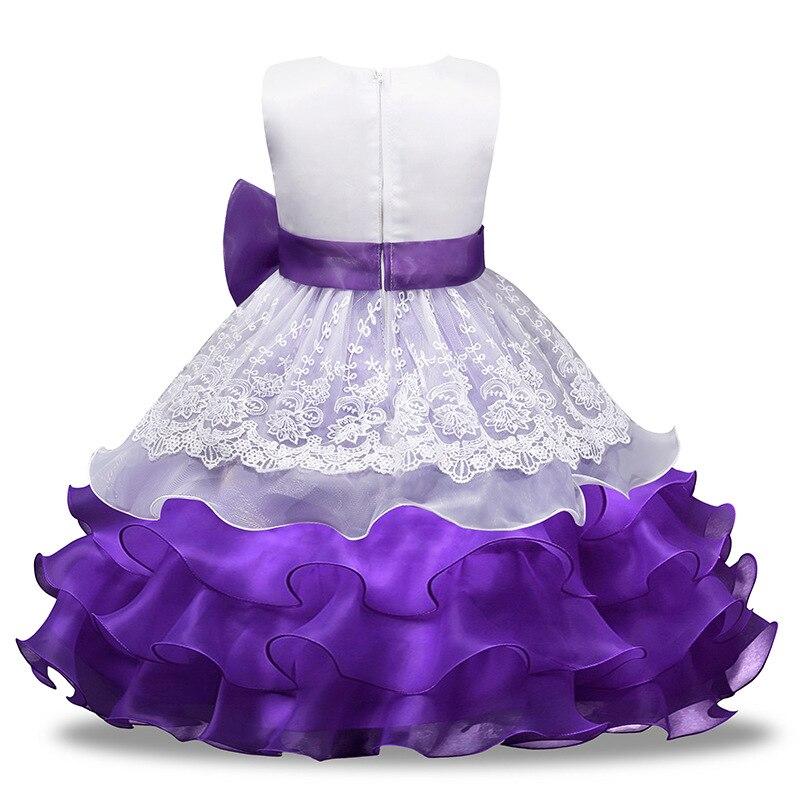 Niñas vestido de novia 2018 princesa vestido Niñas ropa patrón arco ...