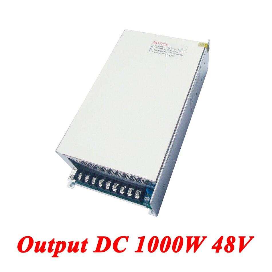 S-1000-48 alimentation à découpage 1000 W 48 v 21A, Sortie Unique ac dc convertisseur pour led Bande, AC110V/220 V Transformateur à DC 48 V