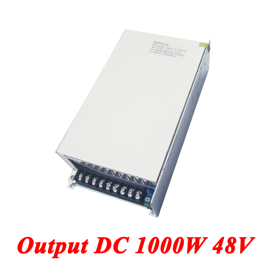 S-1000-48 switching power supply 1000W 48v 21A,Single Output ac dc converter for Led Strip,AC110V/220V Transformer to DC 48 V switching power supply 350w 15v 23a single output watt power supply for led strip ac110v 220v transformer to dc 15v