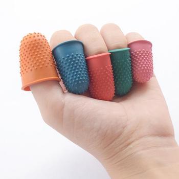 5 uds protector para costura acolchado conteo dedal de goma Punta del dedo de costura