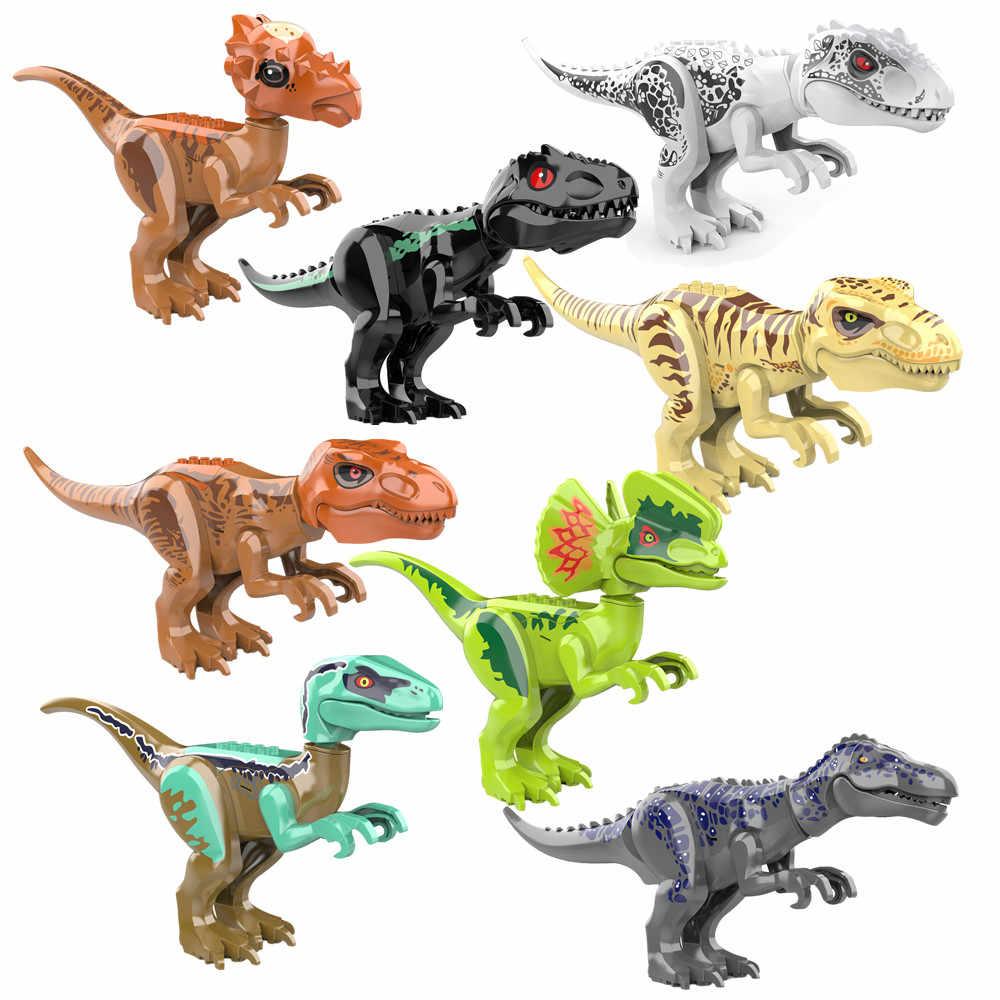 Jurassic Dinosaur World Raptor Mini 2 Figures Army Building Blocks Bricks Dino
