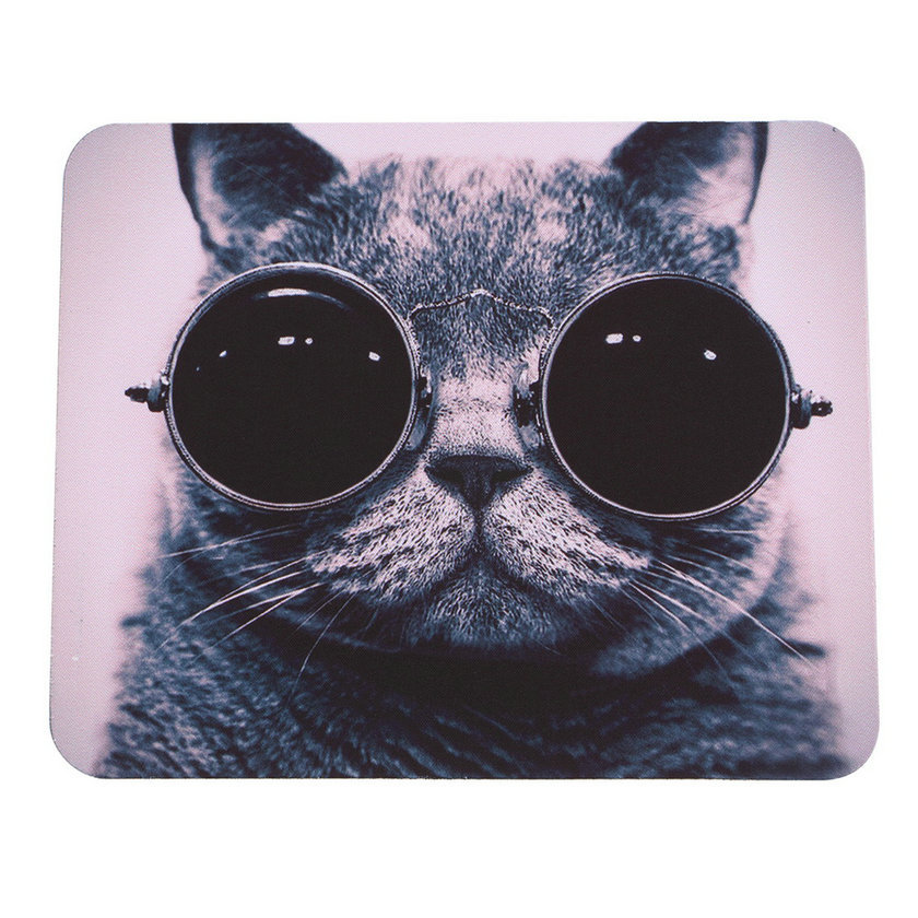 Waterproof Breathable Rubber and Smooth Fabric Cat Picture Anti-Slip Laptop PC Mice Pad Mat Mousepad For Optical Laser Mouse
