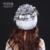 YCFUR Bonés de Malha de Inverno Das Mulheres De Pele Genuína Pele de Coelho Rex Skullies Gorros Chapéus de pele De Raposa de Prata Para O Sexo Feminino Livre Elástica tamanho