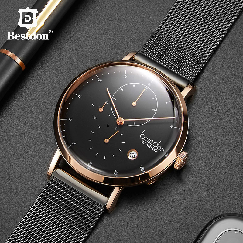 Bestdon Pilot Series Quartz Mens Watch Curved Screen Chronograph Watches Fashion Waterproof Full Steel Wristwatch Students GiftBestdon Pilot Series Quartz Mens Watch Curved Screen Chronograph Watches Fashion Waterproof Full Steel Wristwatch Students Gift