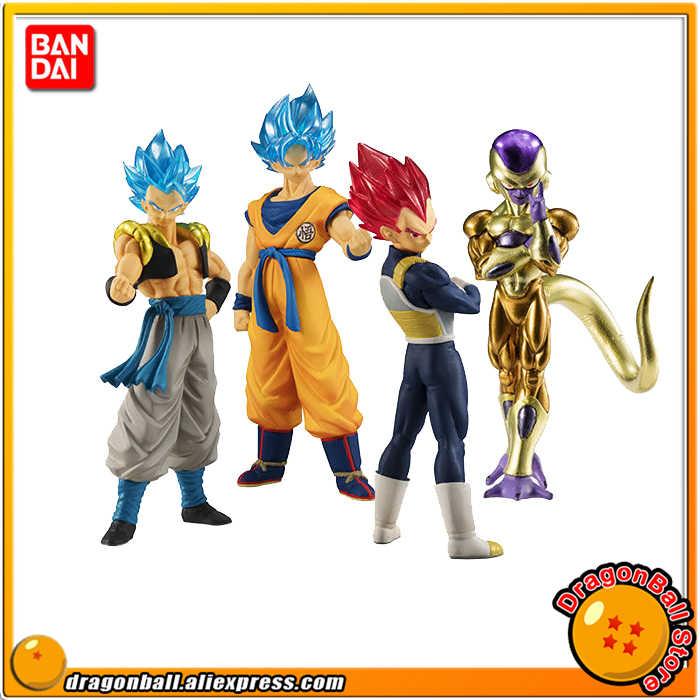 """""""Dragon Ball SUPER"""" Original BANDAI Gashapon FIGURA de ALTO GRAU REAL Brinquedo 01-Definir UM 4 Peças Vegeta gogeta Goku Freeza"""