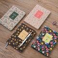 Винтажный блокнот с принтом из искусственной кожи  ежедневник с цветами  4 цвета  ежедневник  ежедневник  2018 школьные офисные принадлежности...