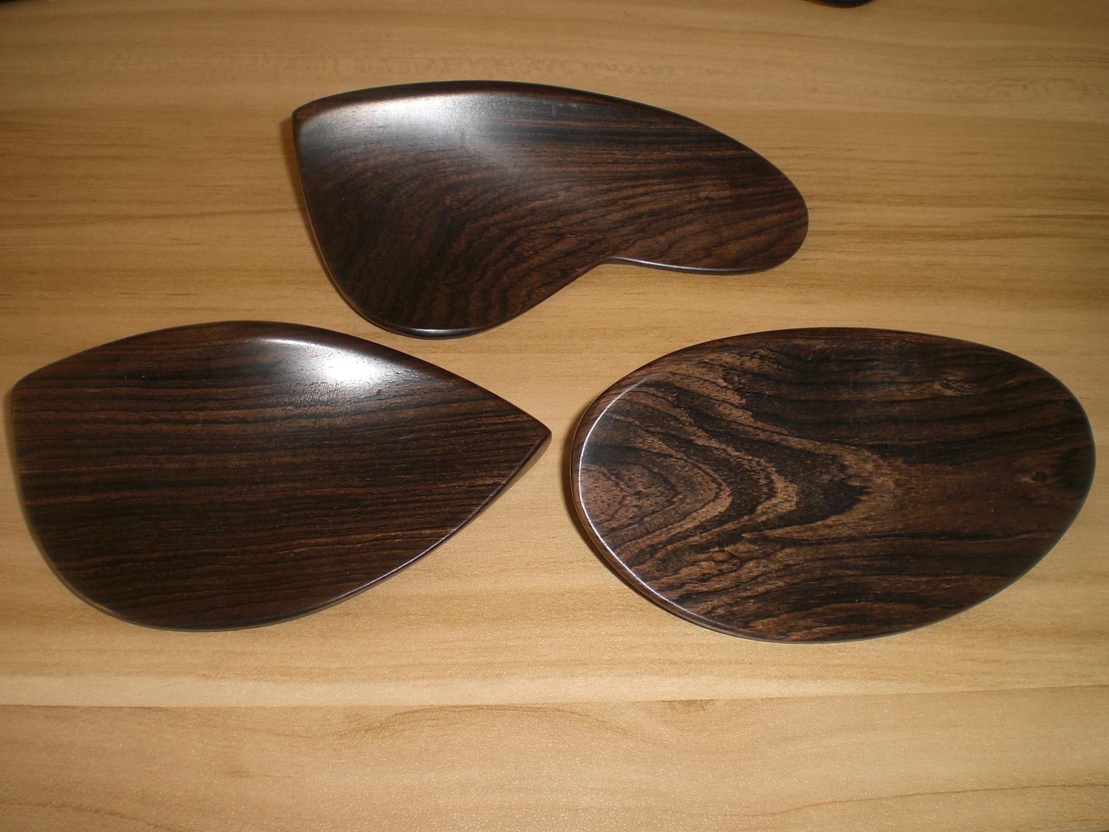 2 PCs Original Color Ebony Violin Chin Rest 4/4 Without Holes Fiddle Parts