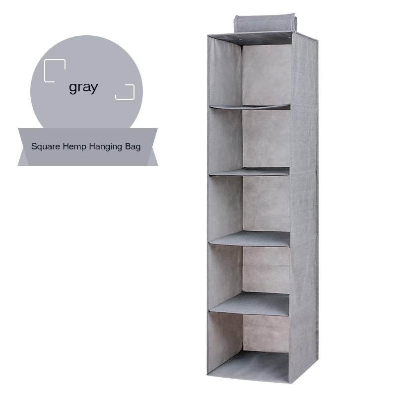 Hanging Clothes Drawer Organizer and Cotton Clothes Storage Box with Compartments 4