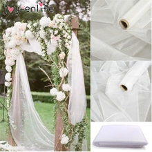 50cm x 10m Mariage Yarn Tulle Roll Sheer Crystal Organza Fabric Birthday Party Kids Baby Shower Wedding Decoration Supplies(China)