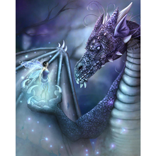 Elf and dragon diamond Embroidery diy painting mosaic diamant 3d cross stitch pictures H219