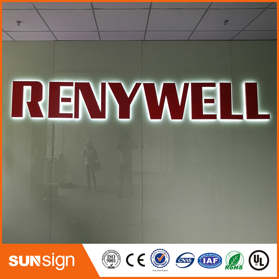 Stainless Steel Channel Letter Backlit LED Illuminated Shop Sign