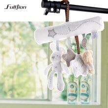 Fulljion Baby Rattle Rabbit Toys Music Doll Bed Bell For Stroller Infant Multifunctional Hand Bell Plush Educational Mobile Toys