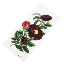 Красное вино цветы Временные татуировки поддельные женщины мужчины DIY хна для Боди арта татуировки дизайн сексуальные бедра татуировки Временные татуировки стикер